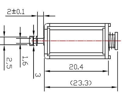 电磁铁:广东广州酒精测试仪框架电磁铁:au0419s-05a20 (2)