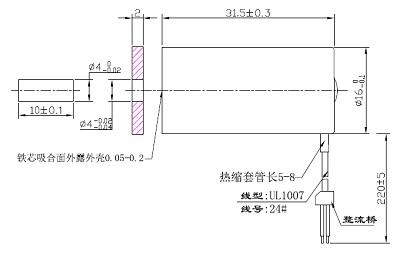 电磁铁:广东深圳吸盘电磁铁ax1632l-24a100