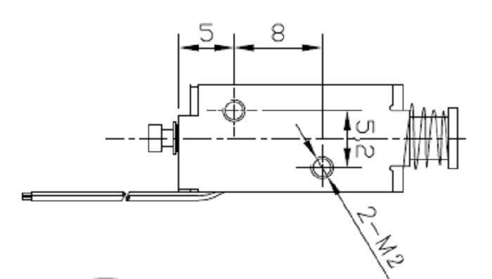广州电磁铁:广东深圳亚欣酒精测试仪框架电磁铁:au0419s-05a05 (2)