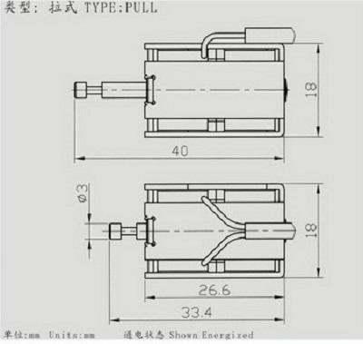 电磁铁生产厂家:广东深圳亚欣疝气大灯保持式电磁铁akd0727产品资料之